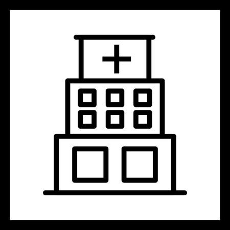 Vector Hospital Icon Vectores