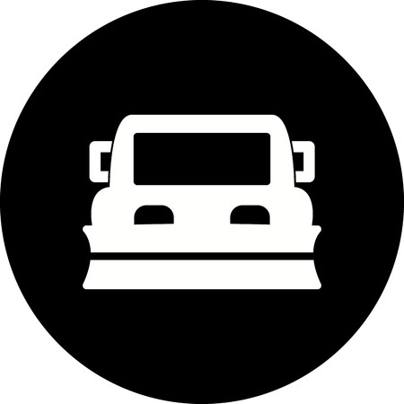 Vector Snowplow Icon Illustration