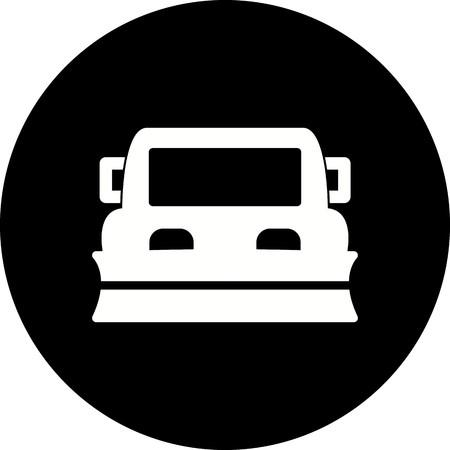 Vector Snowplow Icon Ilustrace