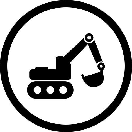 Vector Excavator Icon