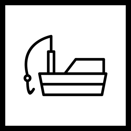 Vector Fishing Boat Icon