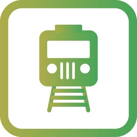 Vector Train Icon Illustration