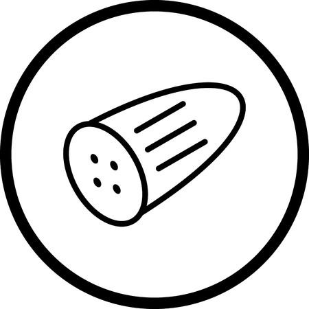 Icône de concombre de vecteur