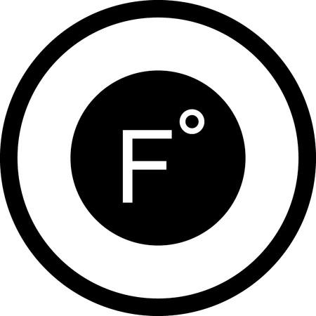 Vector Fahrenheit Icon Vektorové ilustrace