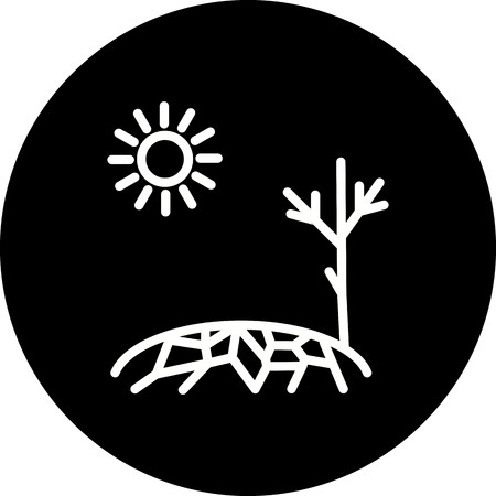 Vector Drought Icon Vectores