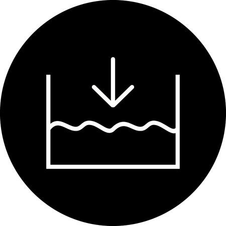 Vector Below sea level Icon