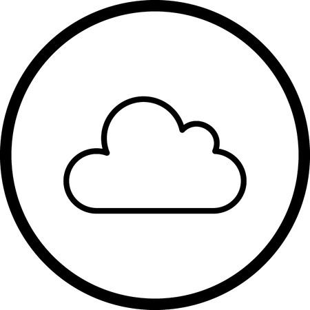 Vector Cloud Icon 矢量图像