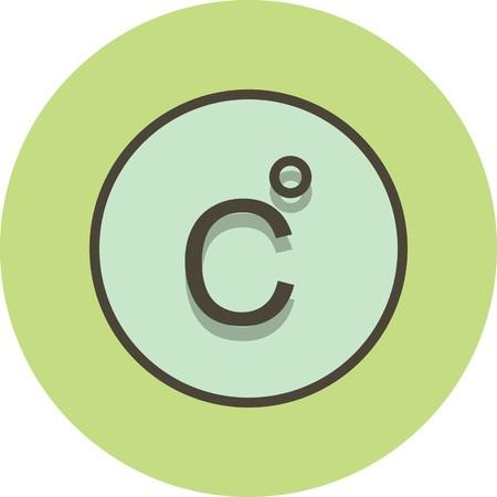 Vector Celsius Icon Illustration