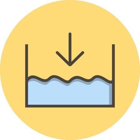 Vector Below sea level Icon Vecteurs