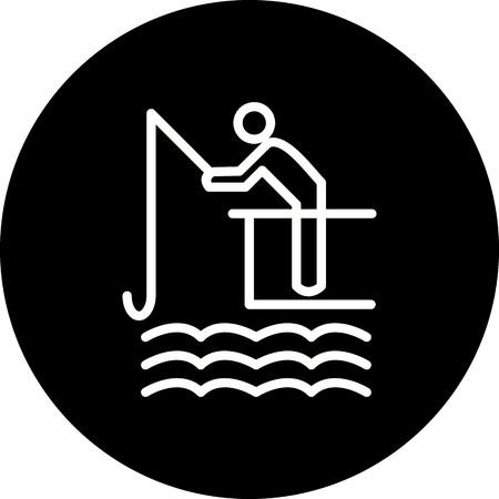 Vector Fishing Icon Illustration
