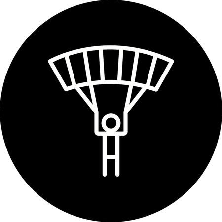 Vector Parachutist Icon