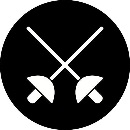 Vector Fencing Icon Archivio Fotografico - 115874519