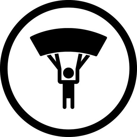 Vector Parachutist Icon