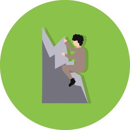 Vector icono de escalada