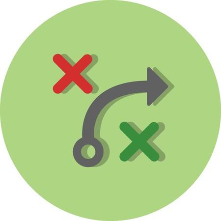 Vektor-Taktik-Symbol Vektorgrafik