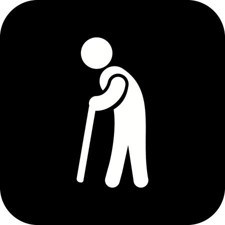 Vector Retirement Icon Иллюстрация