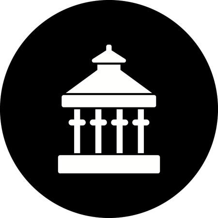 Vector Veranda Icon Standard-Bild - 125826488