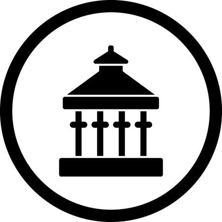 Vector Veranda Icon Standard-Bild - 115941245