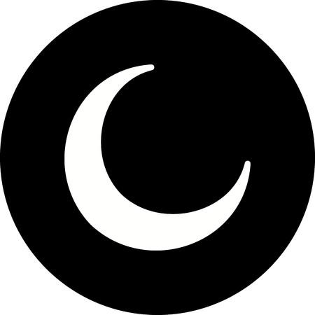 Vector New Moon Icon 版權商用圖片 - 115980035