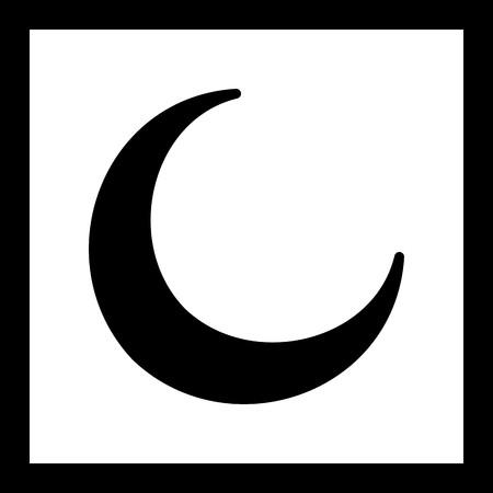 Vector New Moon Icon