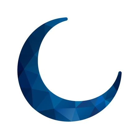 Vector New Moon Icon 版權商用圖片 - 115980329