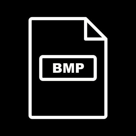 Vector BMP Icon Illustration