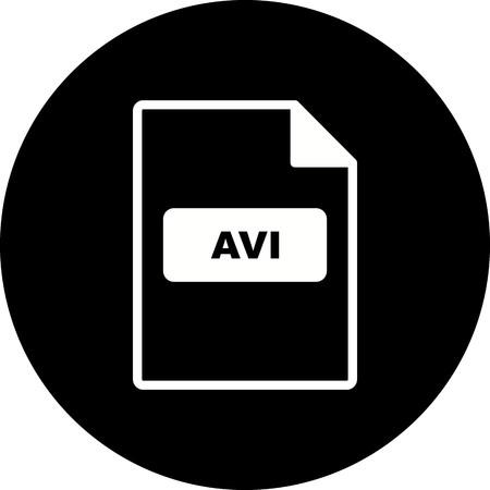 Vector AVI Icon Vector Illustration