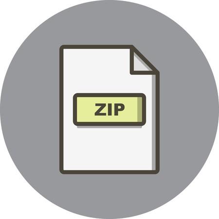 Vector ZIP Icon Illustration