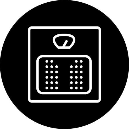 Vector Weight Machine Icon Vector Illustration