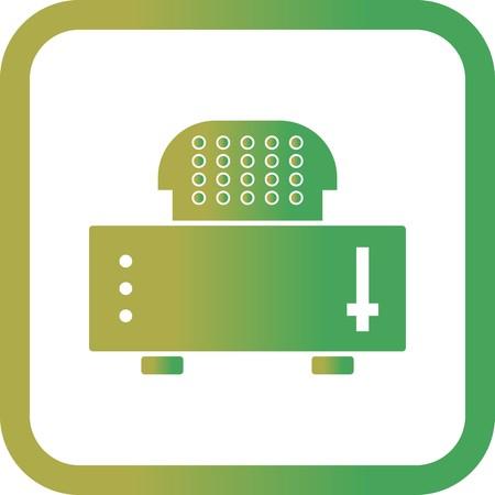 Vector Slice Toaster Icon Illustration