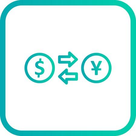 Vector Exchange rate Icon Illustration