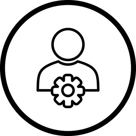Icône de gestion des utilisateurs de vecteur Vecteurs