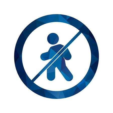 Vector No entry for pedestrians Icon