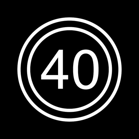 Vector Speed limit 40 Icon  Illustration