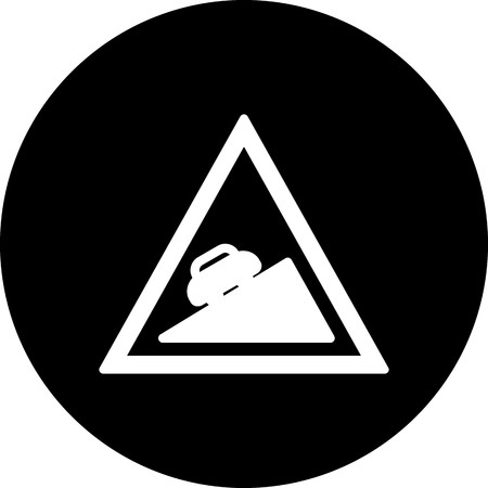 Vector Steep ascent Icon
