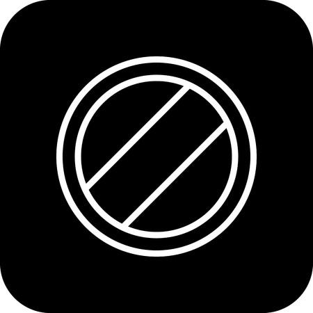 Vector National speed limit applies Icon Ilustração