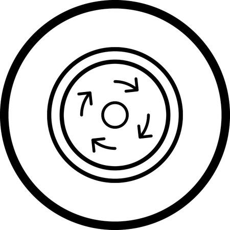 Vector Compulsory roundabout Icon Stock Illustratie