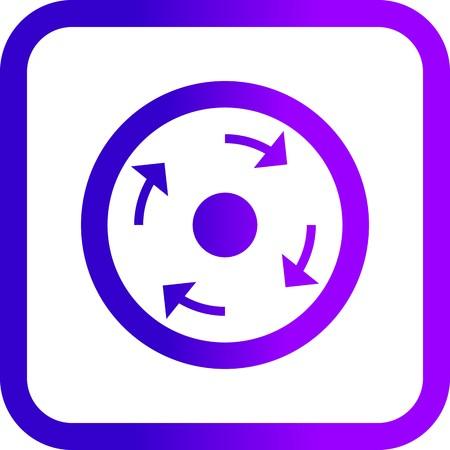Vector Compulsory roundabout Icon