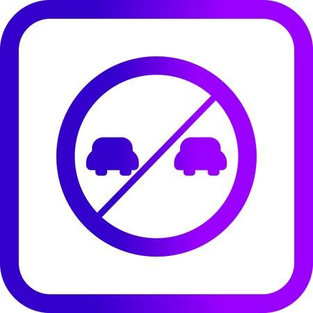 Vector Overtaking prohibited Icon Archivio Fotografico - 125565314