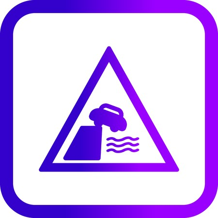 Vector Road leads on to quay or river bank Icon  イラスト・ベクター素材
