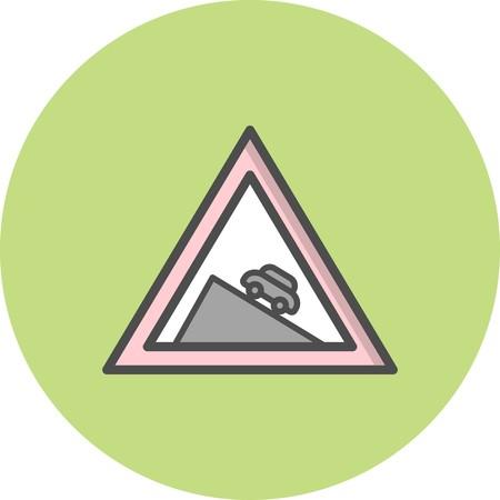 Vector Dangerous descent Icon
