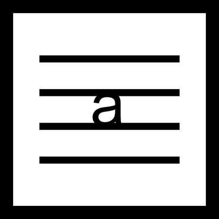 Vector Lowercase Icon Illusztráció