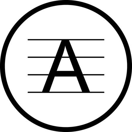Vector Upercase Icon Illusztráció