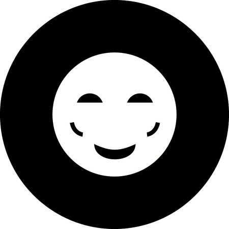 Vector Blush Emoji Icon