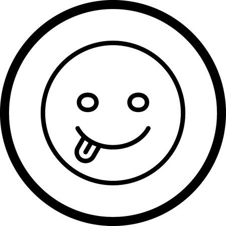 Vector Tongue Emoji Icon Banco de Imagens - 116453662