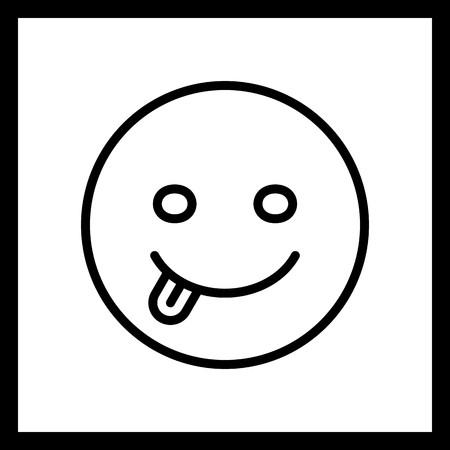 Vector Tongue Emoji Icon Banco de Imagens - 116453929