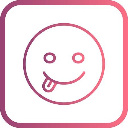 Vector Tongue Emoji Icon Banco de Imagens - 116454047