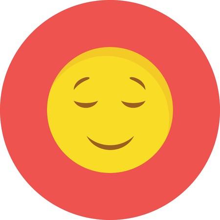 Vector Calm Emoji Icon Vetores