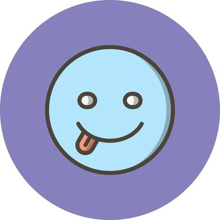 Vector Tongue Emoji Icon