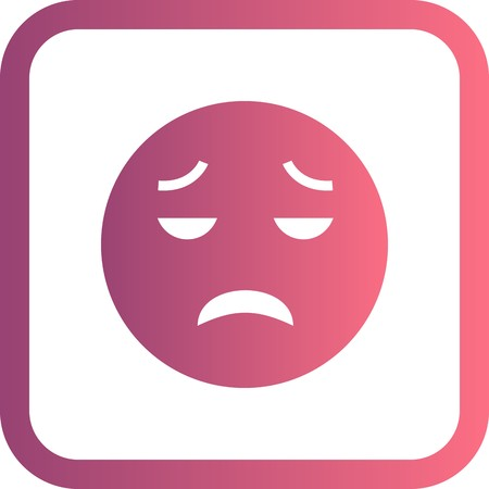 Vector Disappointed Emoji Icon